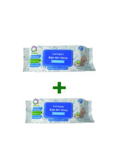 Canopus Premium Baby Wet Wipes 80 pieces per pack (Buy one Get one Free)