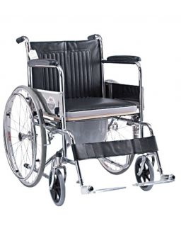 Medequip Commode Wheelchair with Seat Lift